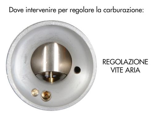 Regolare la carburazione: regolazione vite aria