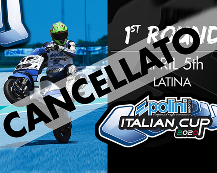 POLINI ITALIAN CUP 2020: ANNULLATA LA PRIMA PROVA DI LATINA-POLINI ITALIAN CUP 2020: Cancelled the first round in Latina